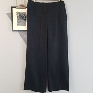 J. Crew City Fit Wide Leg Linen Trousers Pants 4